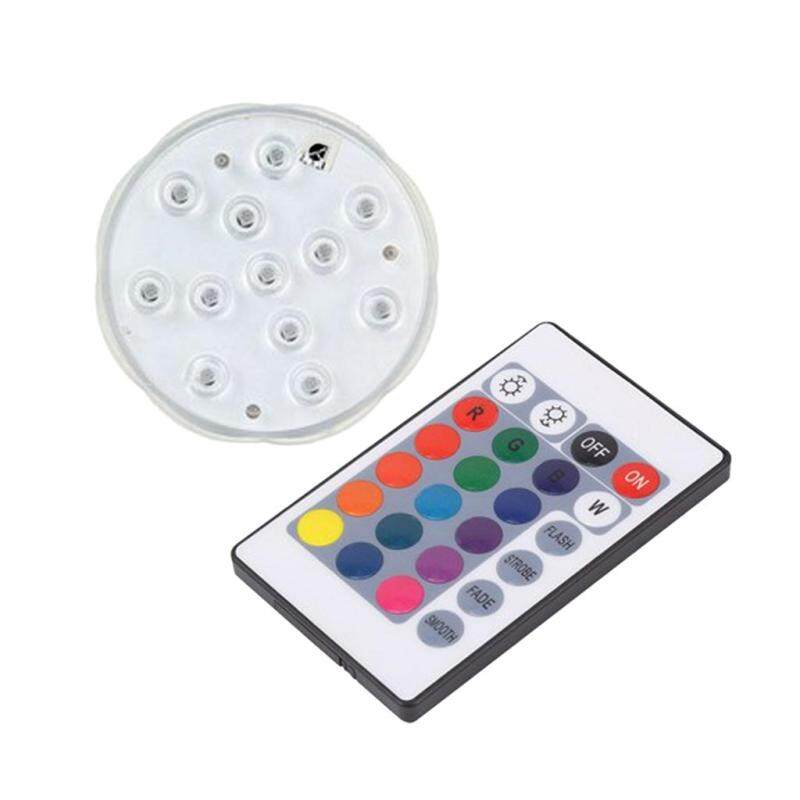 MagiDeal Waterproof Pool Wall Light LED Color Changing Remote Control 10.5cm 12 LED