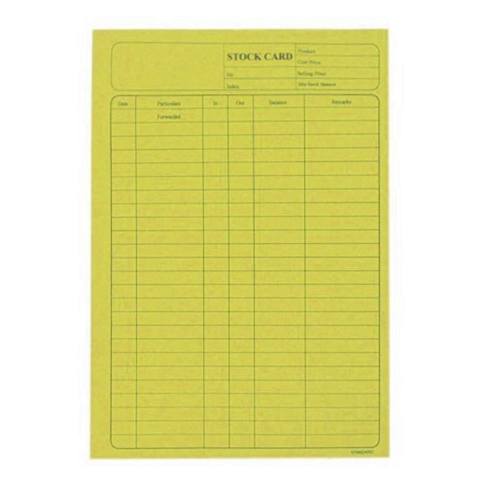 5006 120Gsm Stock Card 20\'S Yellow