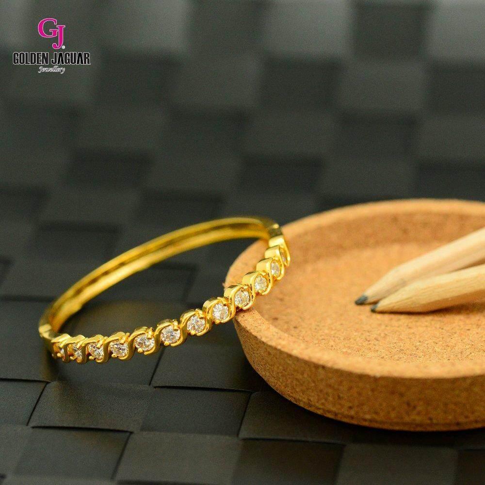 Emas Korea Golden Jaguar Zirkon Bangle (GJJ-57619)