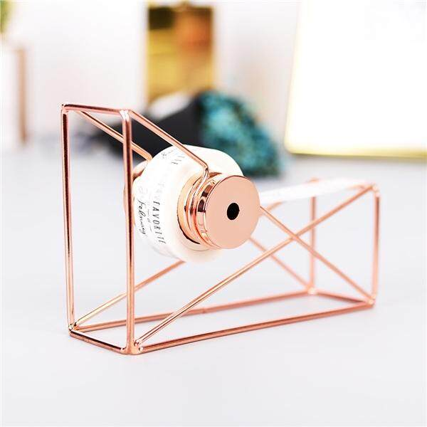 Creative Metal Tape Holder Tape Cutter Office Stationery Tape Dispenser Rack (rose Gold) By Eshopdeal.
