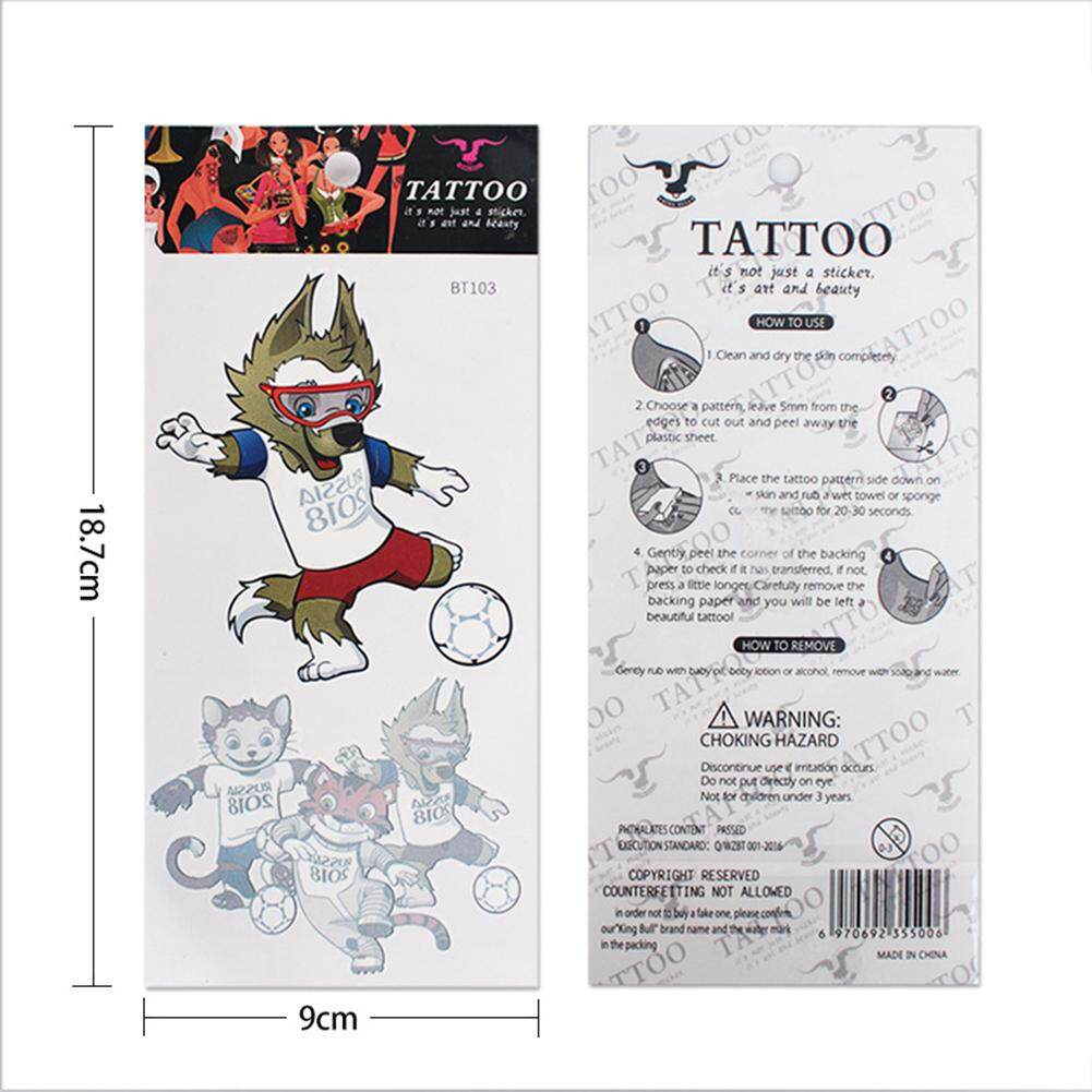 Hình ảnh Hossen Creative Temporary Tattoos 3D Waterproof Tattoo Stickers for World Cup