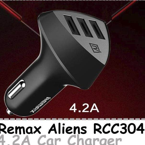 Remax Aliens RCC304 3 USB 4.2A Output Car Charger Phone Charger