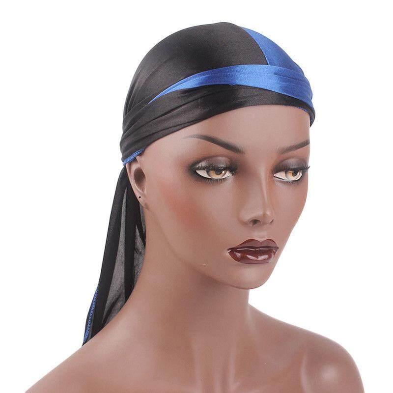 Solid Fashion Wanita Pria Halus Durag Pembungkus Kepala Topi Musim Panas  Bandana Kain . 0a7079f031