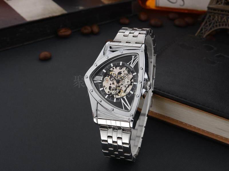 2018 Automatic Mechanical Watch Hollow Personality Triangle Mechanical Watch Waterproof Student Mechanical WATCHES Malaysia