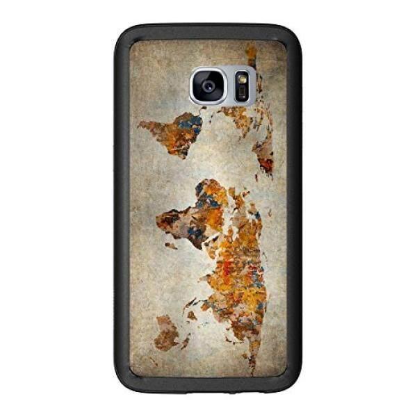 Sarung Telepn Seluler Grunge Peta Dunia untuk Samsung Galaxy S7 G930 Case Cover Atom Pasar-Intl