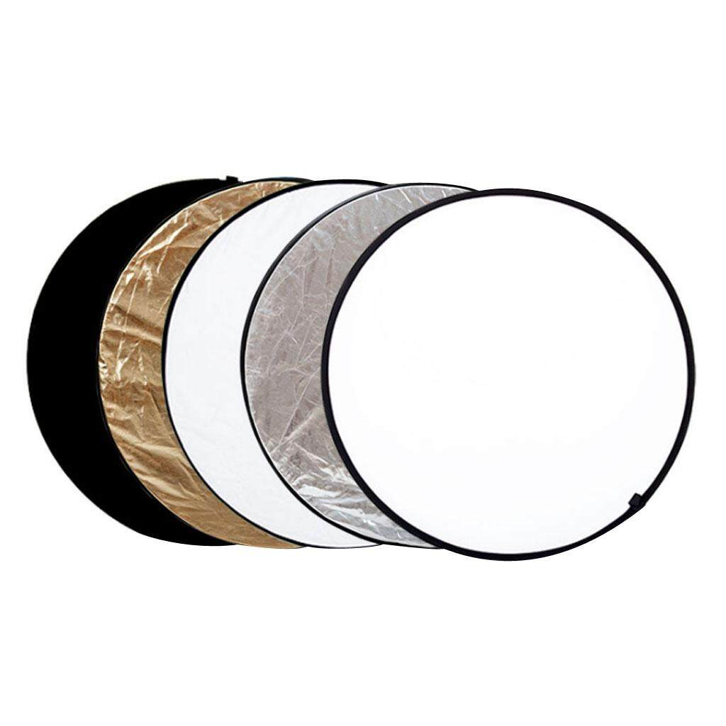 Miracle Shining 24in 60cm 5 in 1 Camera Light Multi Collapsible Reflector for Photograph