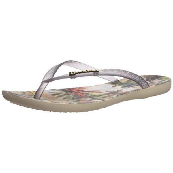 Ipanema Womens Wave Vista Flip-Flop, Beige/Smoke, US - intl