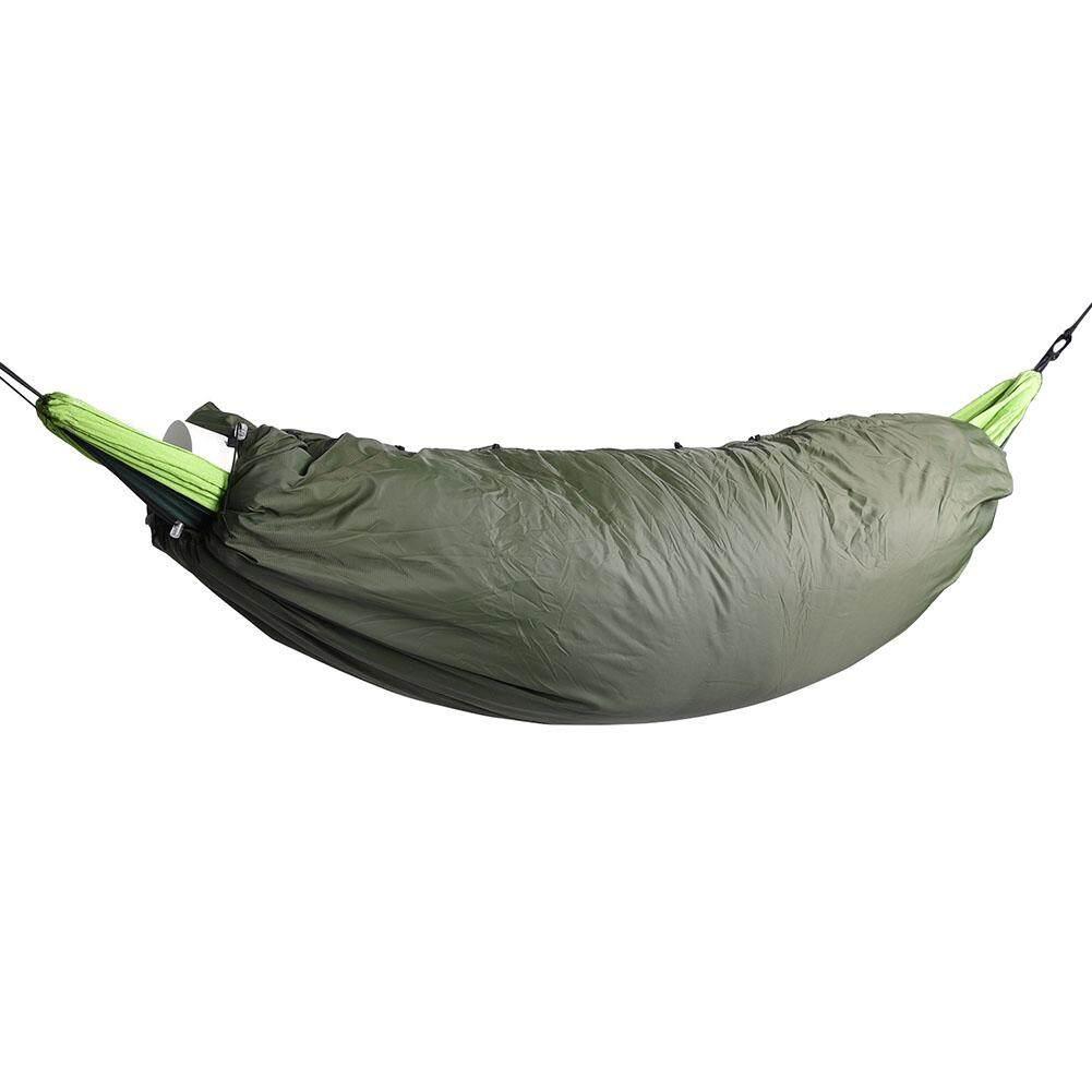 200*75 Cm Tempat Tidur Gantung Yang Empuk Tali Elastis Hangat Outdoor Ritsleting Ringan Penutup Insulasi Kantung Tidur Hollow Selimut Katun Camping Portable