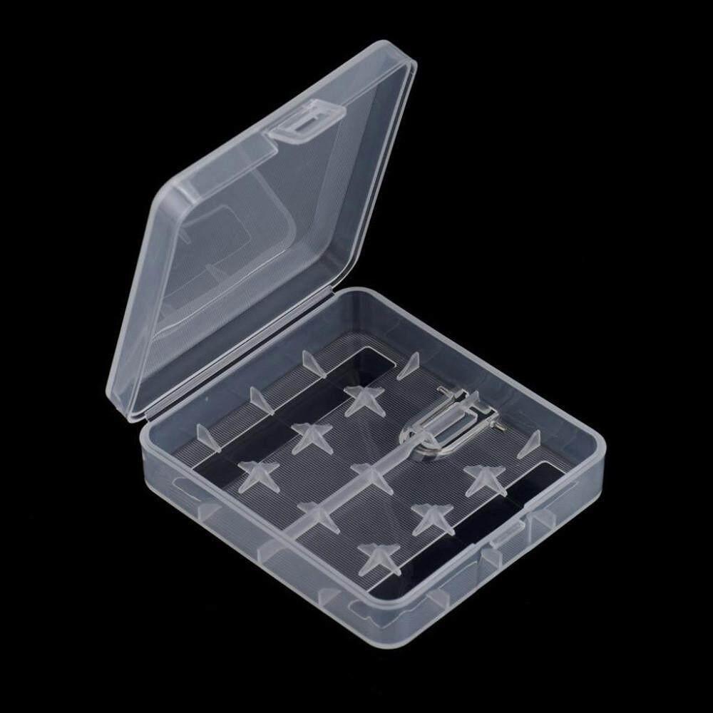 Fanestiy Hard Portabel Penyimpanan Plastik Pemegang Kotak Kasus untuk 4X18650 Baterai Wh