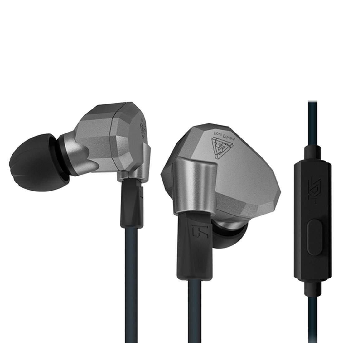 KZ ZS5 1.2 M 3.5 มม.หูแขวนกีฬาออกแบบชนิดใส่ในหูการควบคุมสายหูฟัง,สำหรับ iPhone,iPad, GALAXY,Huawei,Xiaomi,LG,HTC และสมาร์ทโฟนอื่นๆ (สีฟ้า)