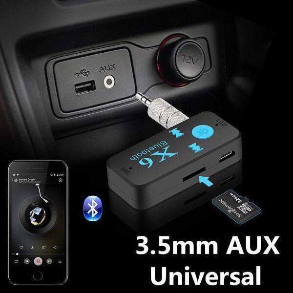 Dewin 3.5mm Wireless Bluetooth  Car Receiver Adapter Mic USB AUX Audio Stereo Music
