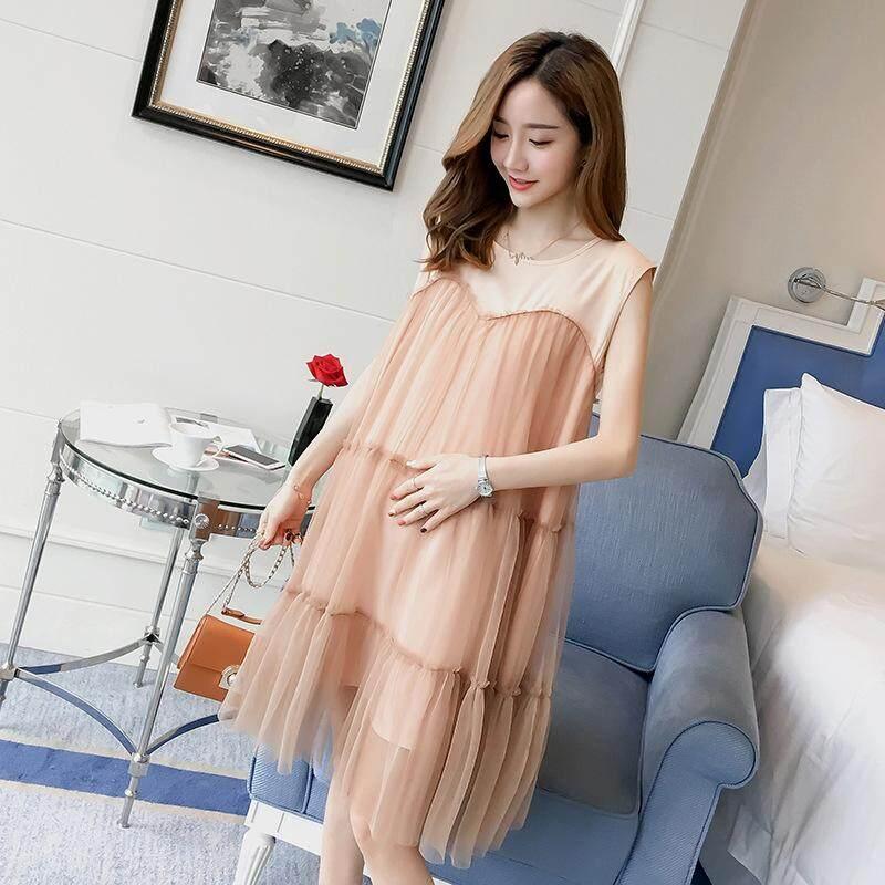 Pakaian Musim Panas Fashion Gaya Pakaian Ibu Hamil Fashionista Gaun Panjang Menyusui Musim Panas Rok Di