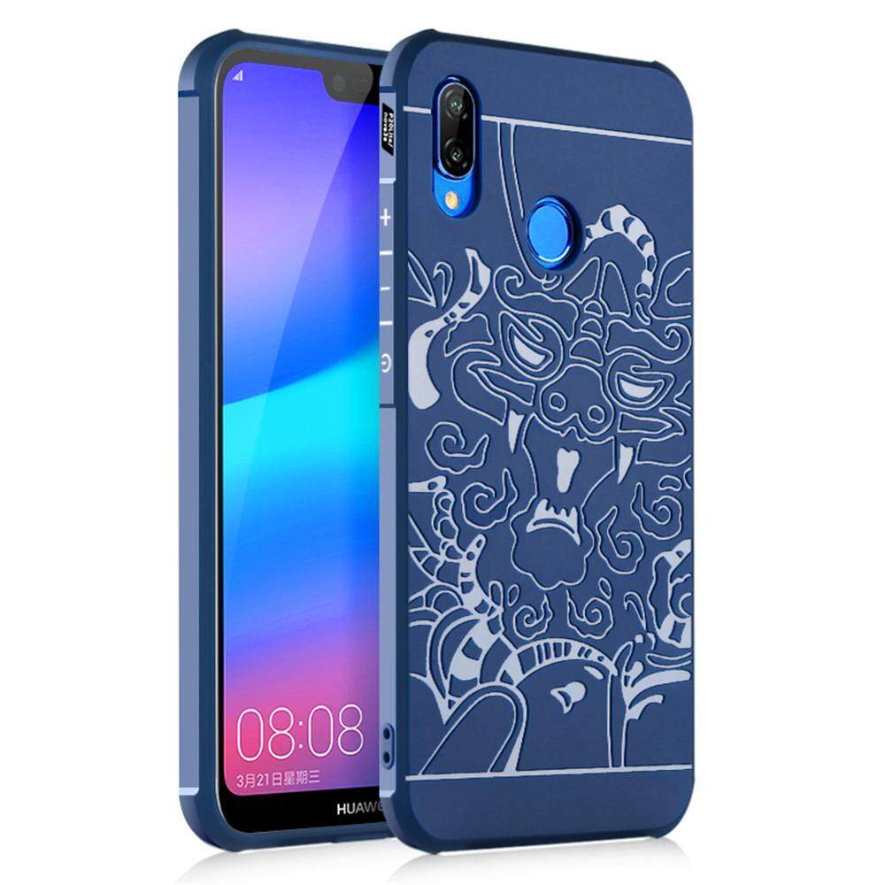 Moonmini Case for 3D Dragon Relief Ultra Thin Soft TPU Case Shockproof Protective Cover for Huawei
