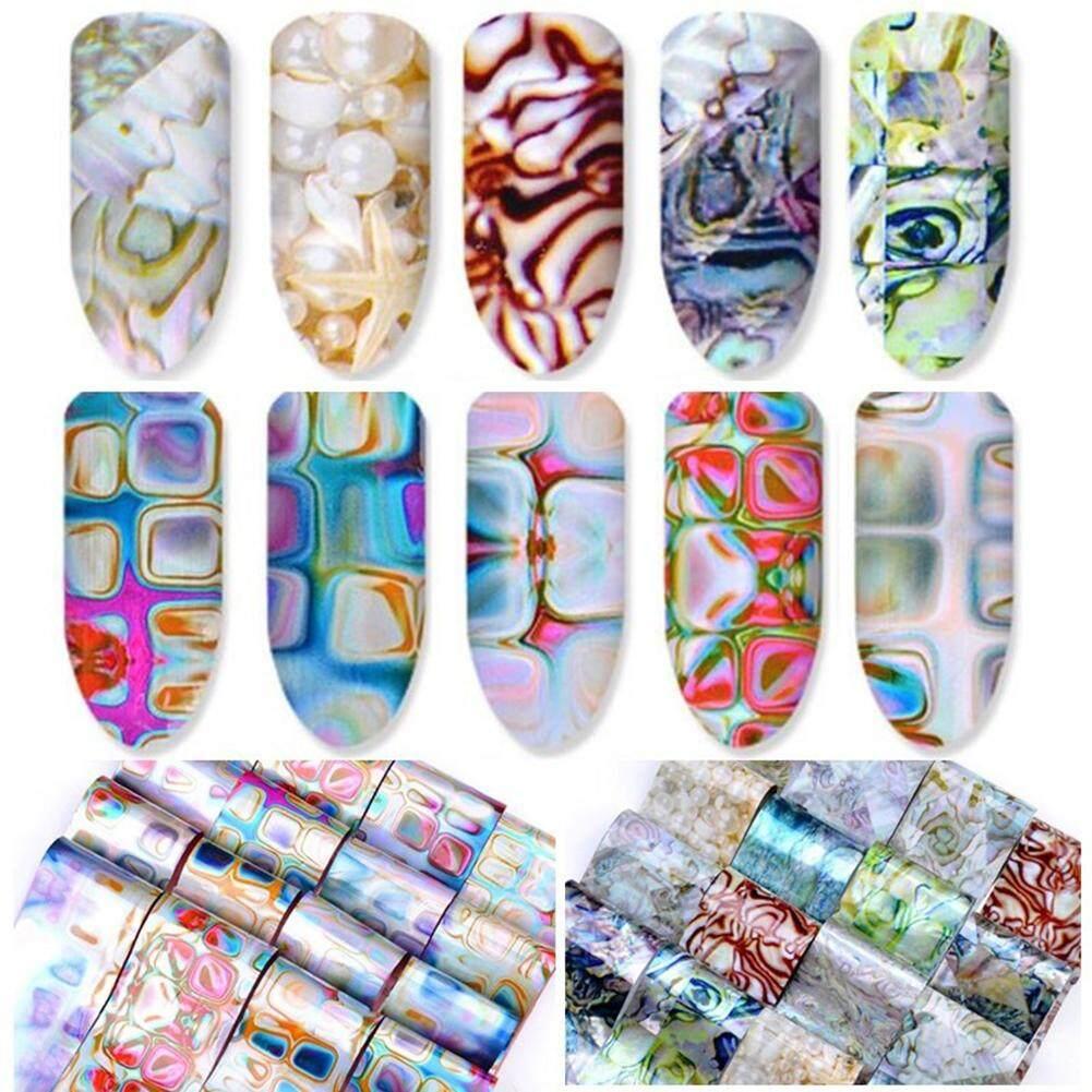 Bluelans® DIY Shell Starry Sky Nail Foils Art Stickers Tools Women Fashion Manicure Decor