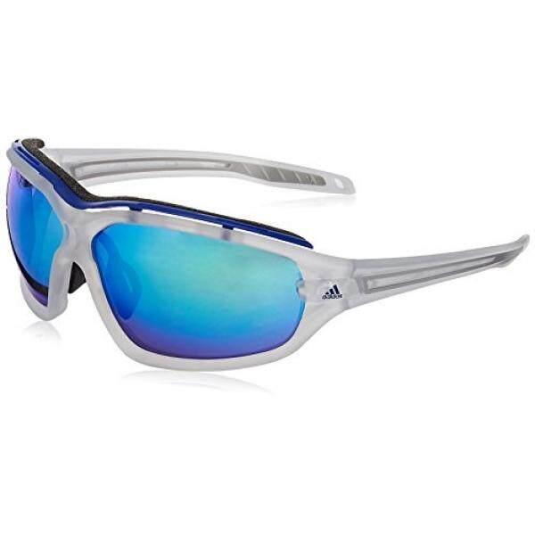 Adidas Evil Mata EVO Pro L Non-polarized Iridium Kacamata Hitam Persegi Panjang, Kristal Warna Tidak Mengkilap, 72 Mm-Internasional