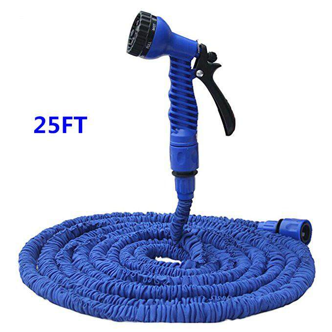 Flexible Expandable Garden Hose Yummy Sam Double Layer Latex Retractable Collapsible Garden Water Hose with 7 Functions Spray Nozzle Expands to 3 Times Length 25ft/50ft/75ft/100ft - intl
