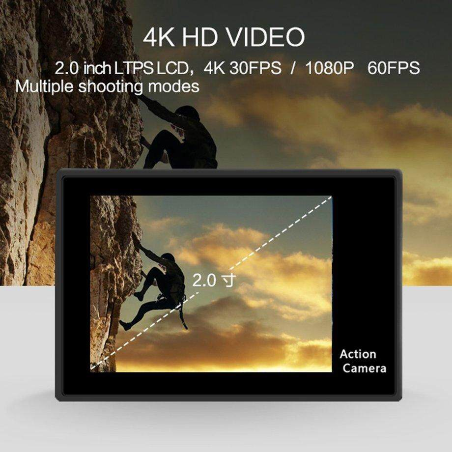 Era H9 Ultra HD 4 K Tahan Air 30 M Kamera Olahraga 2 Inch LCD Wifi Aksi Camcorder