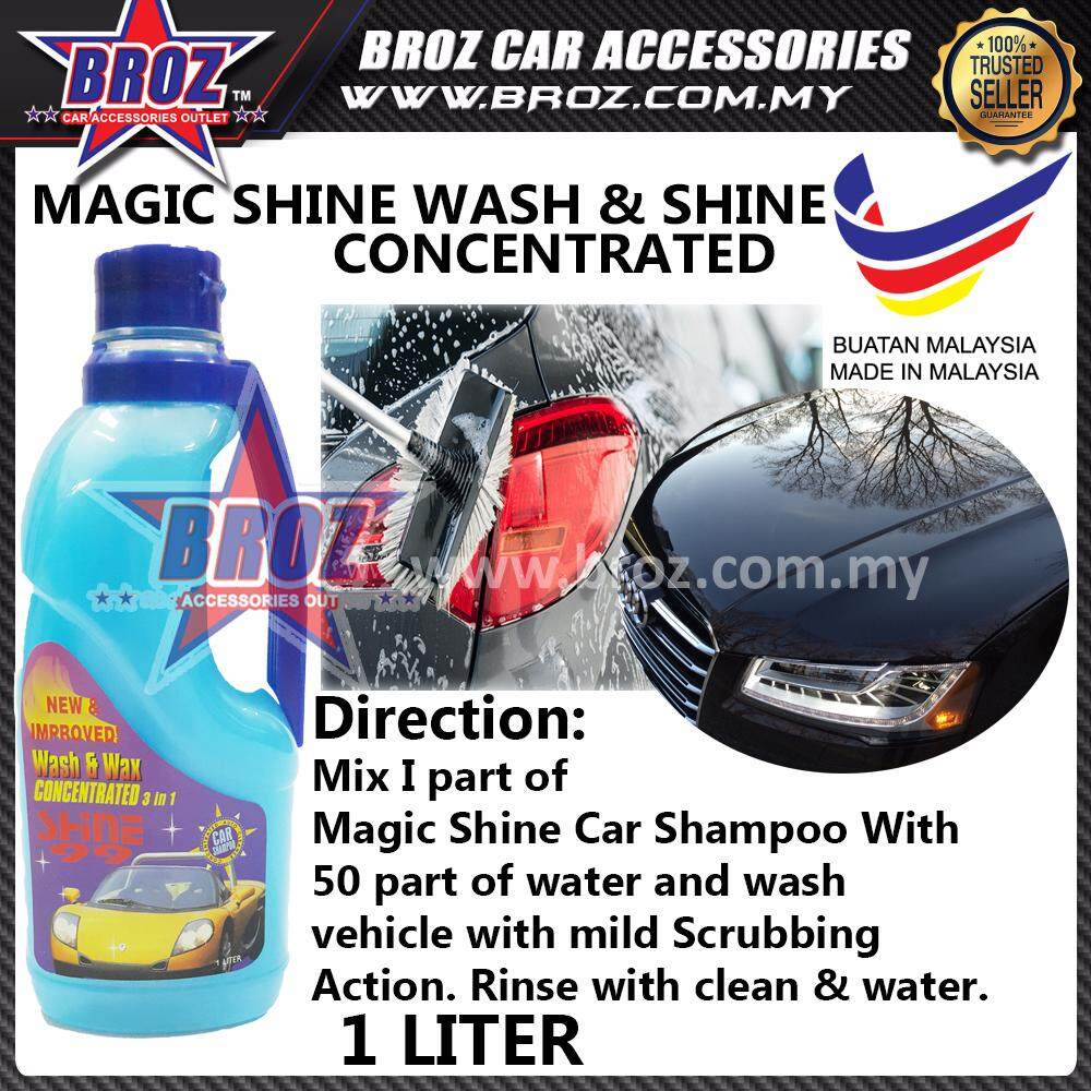 SHINE 99 Wash & Wax Concentrated 3 in 1 Car Cleaner Shampoo 1 Liter
