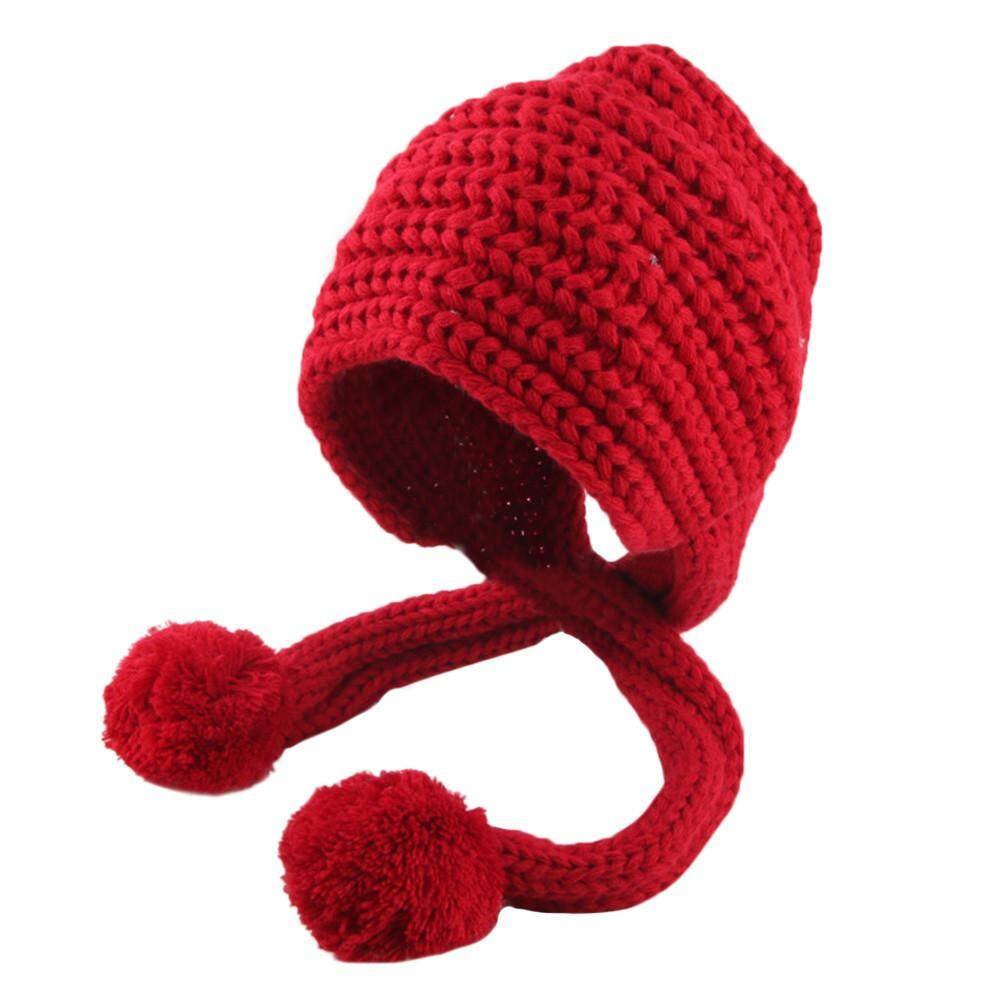Docesty Anak Perempuan Balita dan Bayi Laki-laki Musim Dingin Crochet Topi  Kupluk Rajut Topi feba94d943