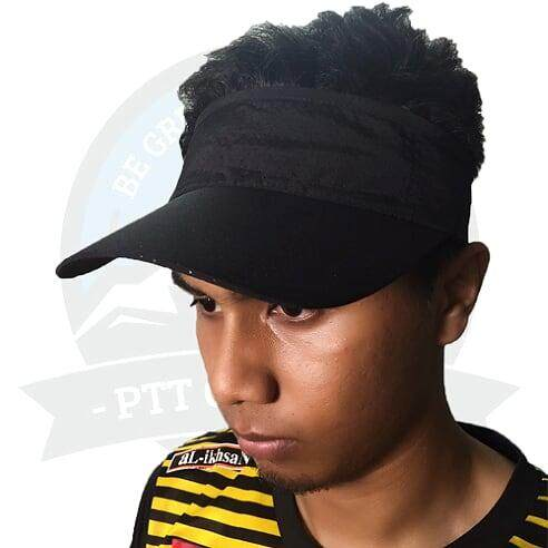 [LOCAL DELIVERY] Running Cap Visor Cap Sun Visors For Women And Men, Long Brim Thicker Sweatband Adjustable Velcro Hats Caps For Cycling Fishing - Black