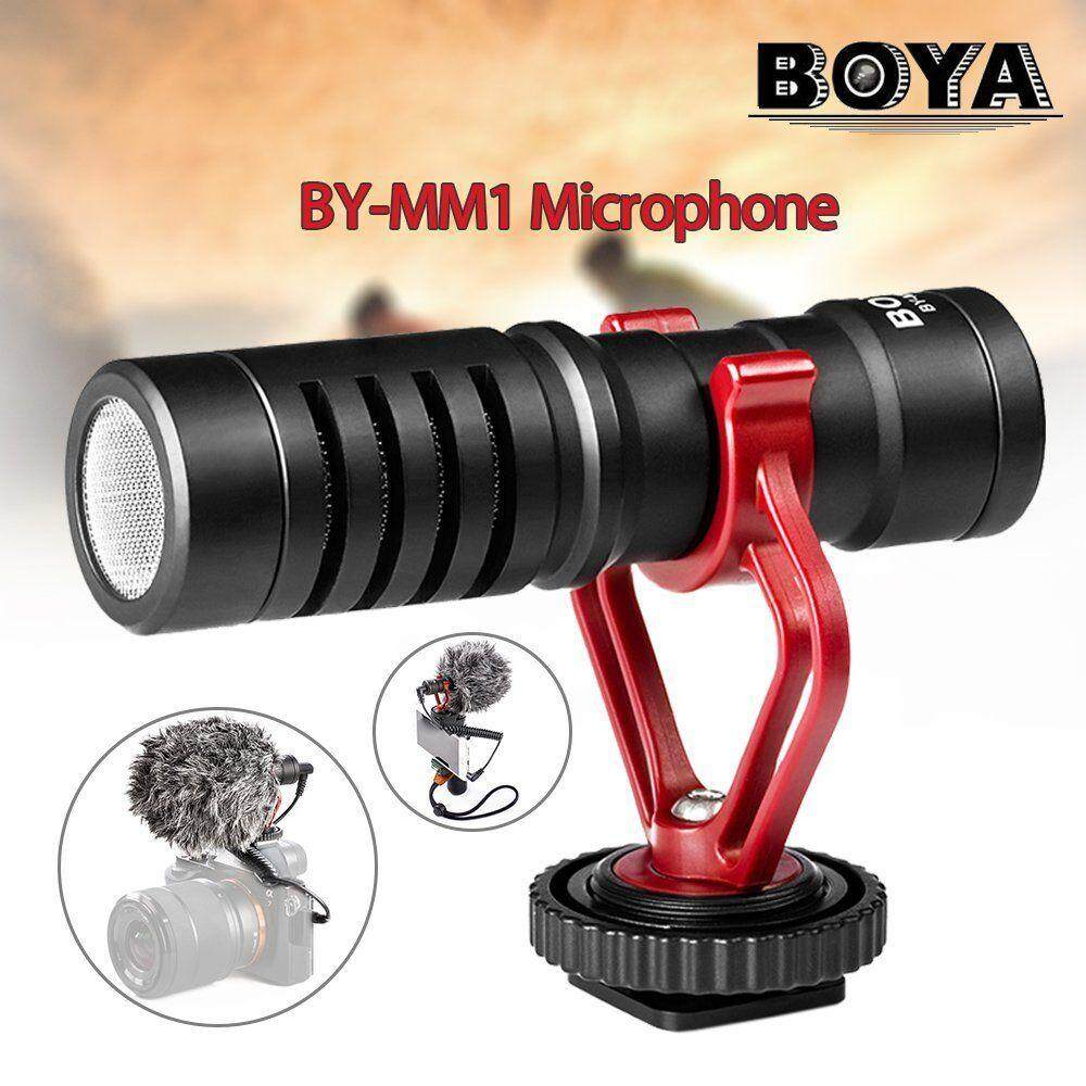 Features Boya By Mm1 Mini Cardioid Microphone Metal Electret M1 Clip On Mic For Canon Nikon Sony Dslr Camera Kamera Universal Video Camcorder Iphone Condenser Fr Smartphone Recorder