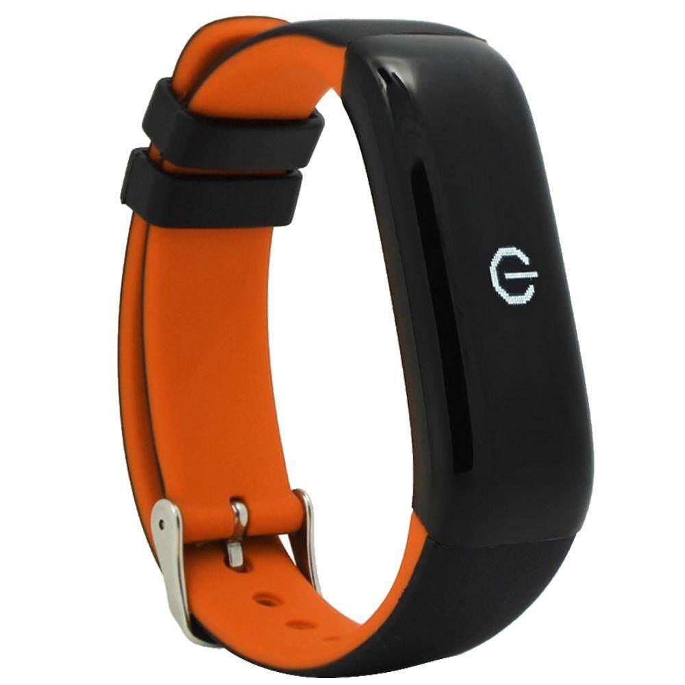 Opoopv Bluetooth Smart Band P1 Denyut Jantung Tekanan Darah Kebugaran Pedometer Trek Gelang Olahraga Cicret Gelang-Intl