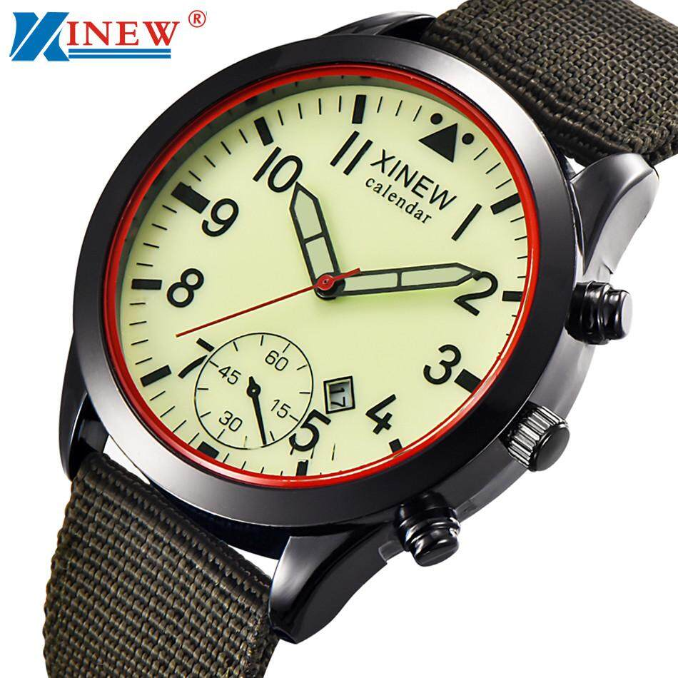 VRE Menonton Toko Mens QUARTZ Militer Army Watch Hitam Date Sport Mewah Jam Tangan Bercahaya-