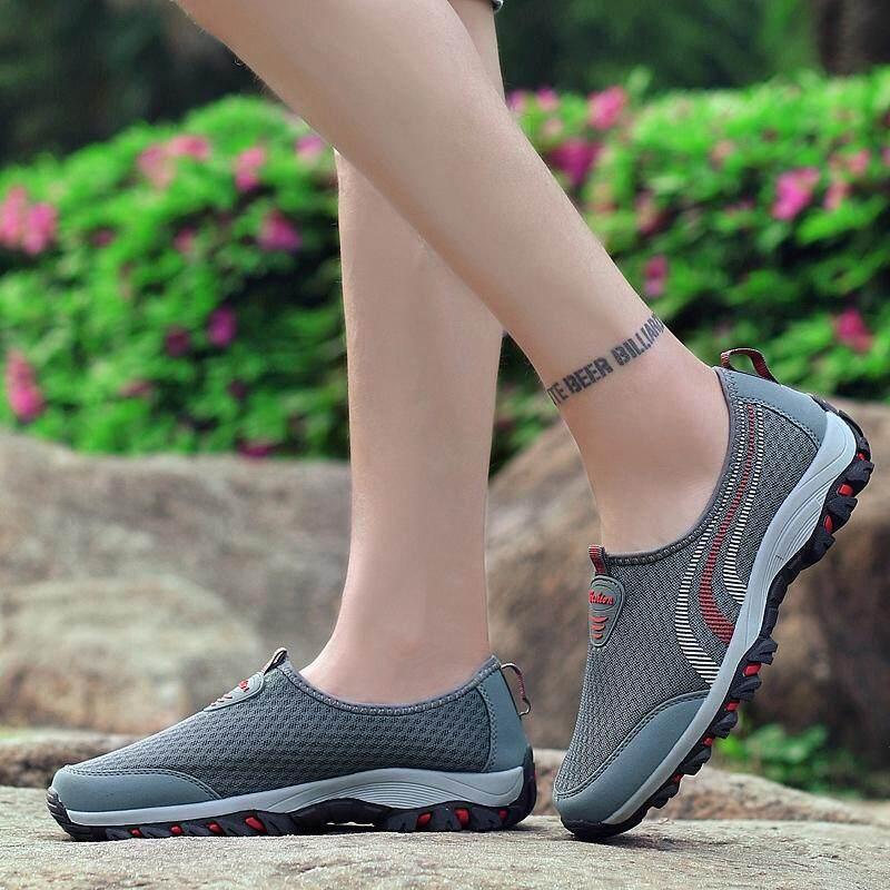 ... MENTEE Pria Dan Wanita Luar Sepatu Hiking Sepatu Bernapas Perjalanan Luar Sepatu Jala - 4 ...