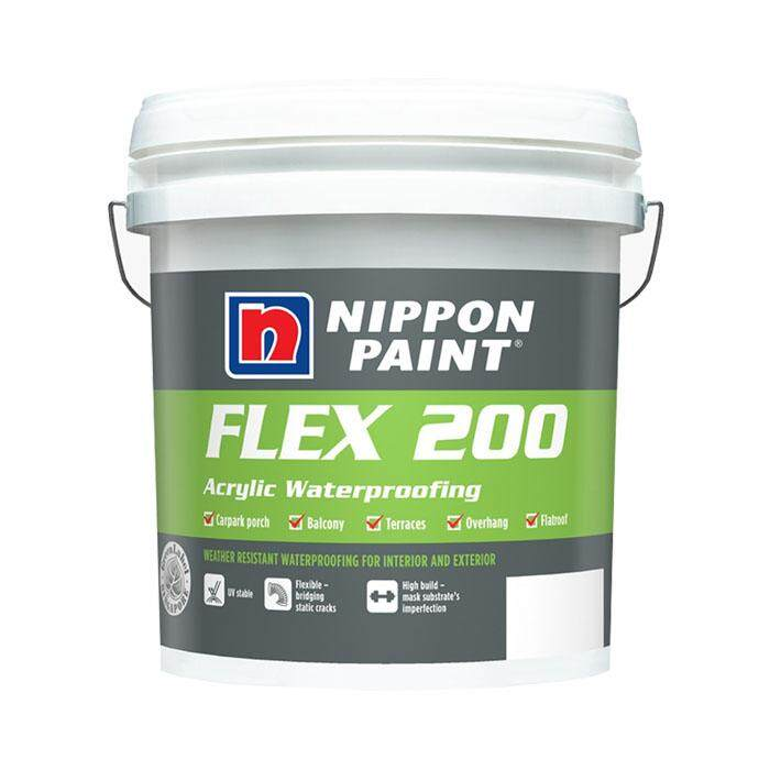 NIPPON PAINT FLEX 200 ARCYLIC WATERPROOFING (GREY)
