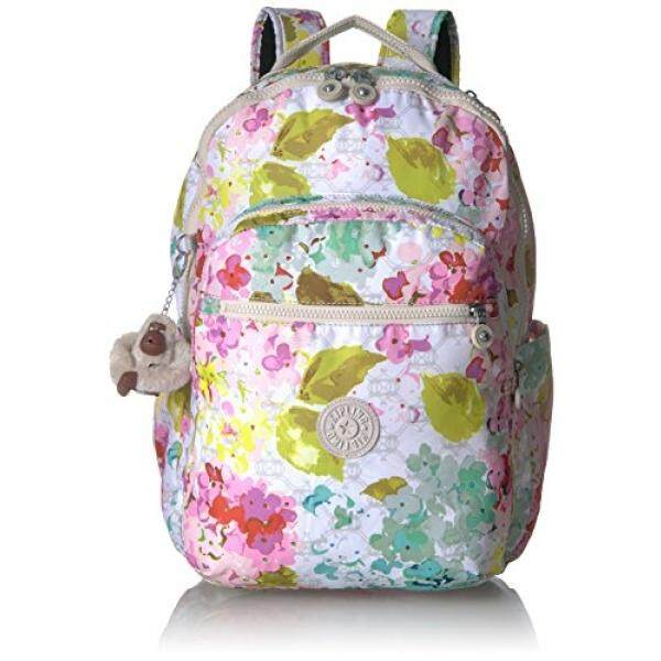 Seoul L Printed Laptop Backpack Backpack, LUSCFLRWHT, One Size - intl
