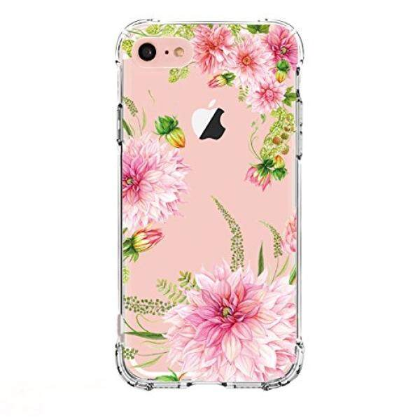 Smartphone Cases Cases LUOLNH LUOLNH iPhone 6 6s Case, Dahlia Series TPU Bumper Soft Protective Slim Flexible Silicone Glossy Skin Cover Case for iPhone 6/6s [4.7 inch] - Dahlia - intl
