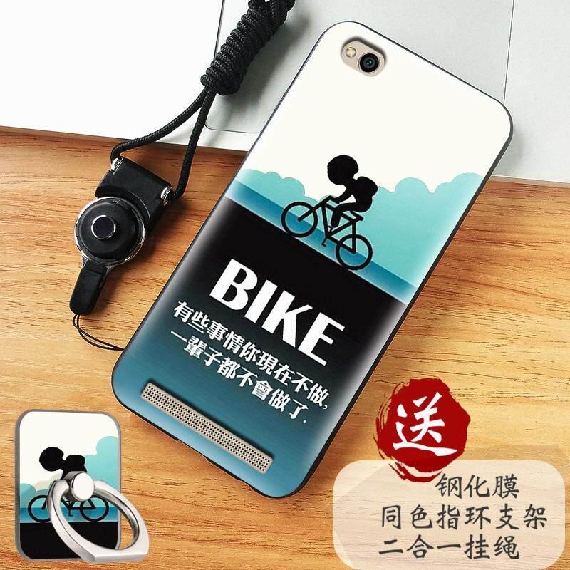 Telepon Case untuk Xiaomi Redmi 5A Lembut Silikon/Tpu Ponsel Pelindung untuk Xiao Mi Merah Mi 5A Selubung Belakang sarung (1 X Telepon Case + 1 X Cincin Penahan + 1 X Gantung Tali + 1 X Melunakkan kaca Film) -Internasional