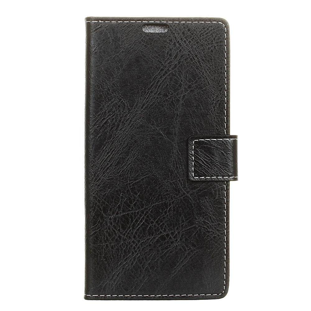 Moonmini Case for ZTE Blade V8 Pro Crazy Horse Pattern PU Leather Wallet Case Magnetic Flip Stand Cover with Card Slots Photo Frame - intl