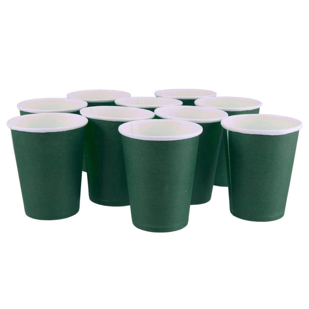 BolehDeals Paper Cups-Plain Solid Colours Birthday Party Tableware Catering Jade Green