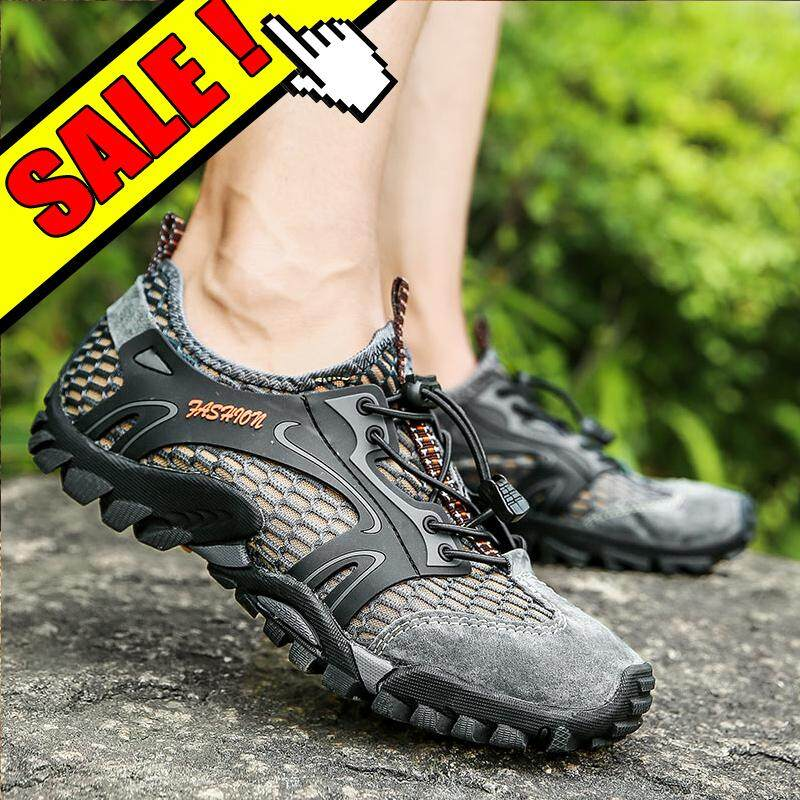 Yealon Outdoor Hiking Shoes Men For Sandals Leather