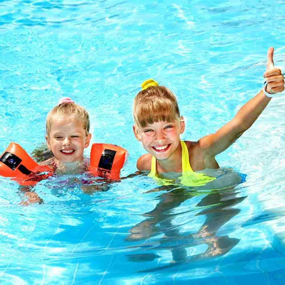 Hình ảnh M_home Detachable Quick-drying Buoyancy Swimsuit Children's Floating Siamese Training Swimsuit Boys Girls Swimwear XXL(110cm-120cm) - intl