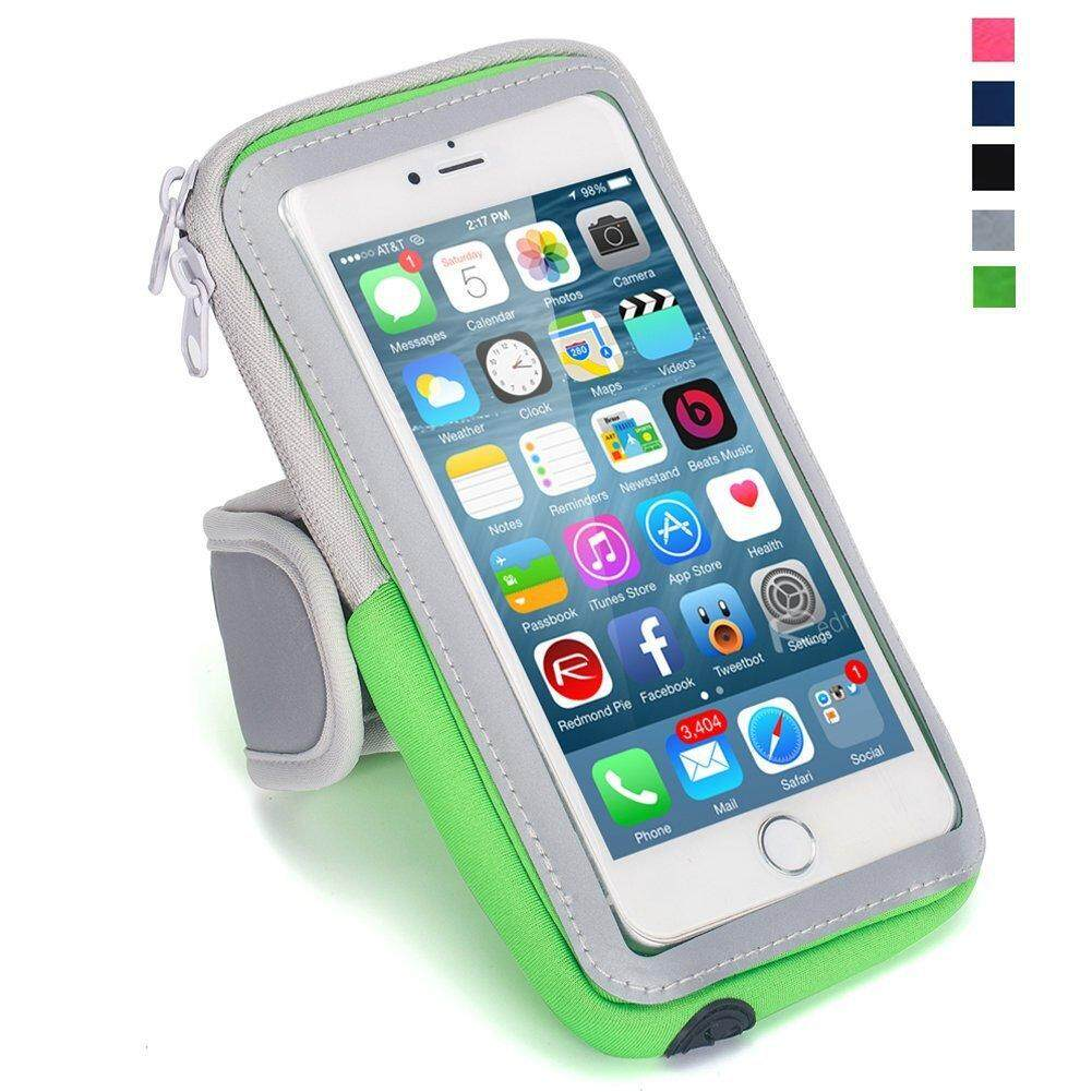 Waterproof Sport Running Arm Band Case Bag(Green 5.5 Inch)
