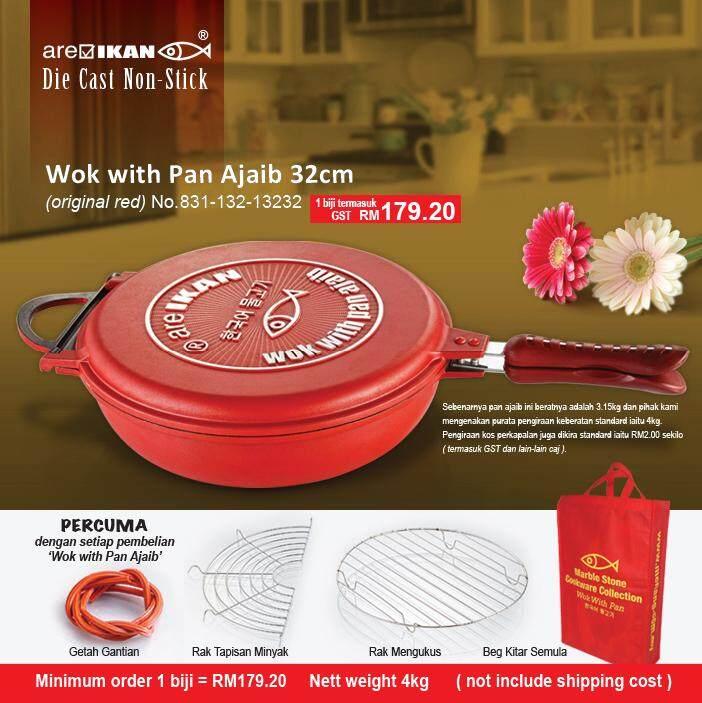 Hot!!! Menang Glassware Wok with Pan ajaib