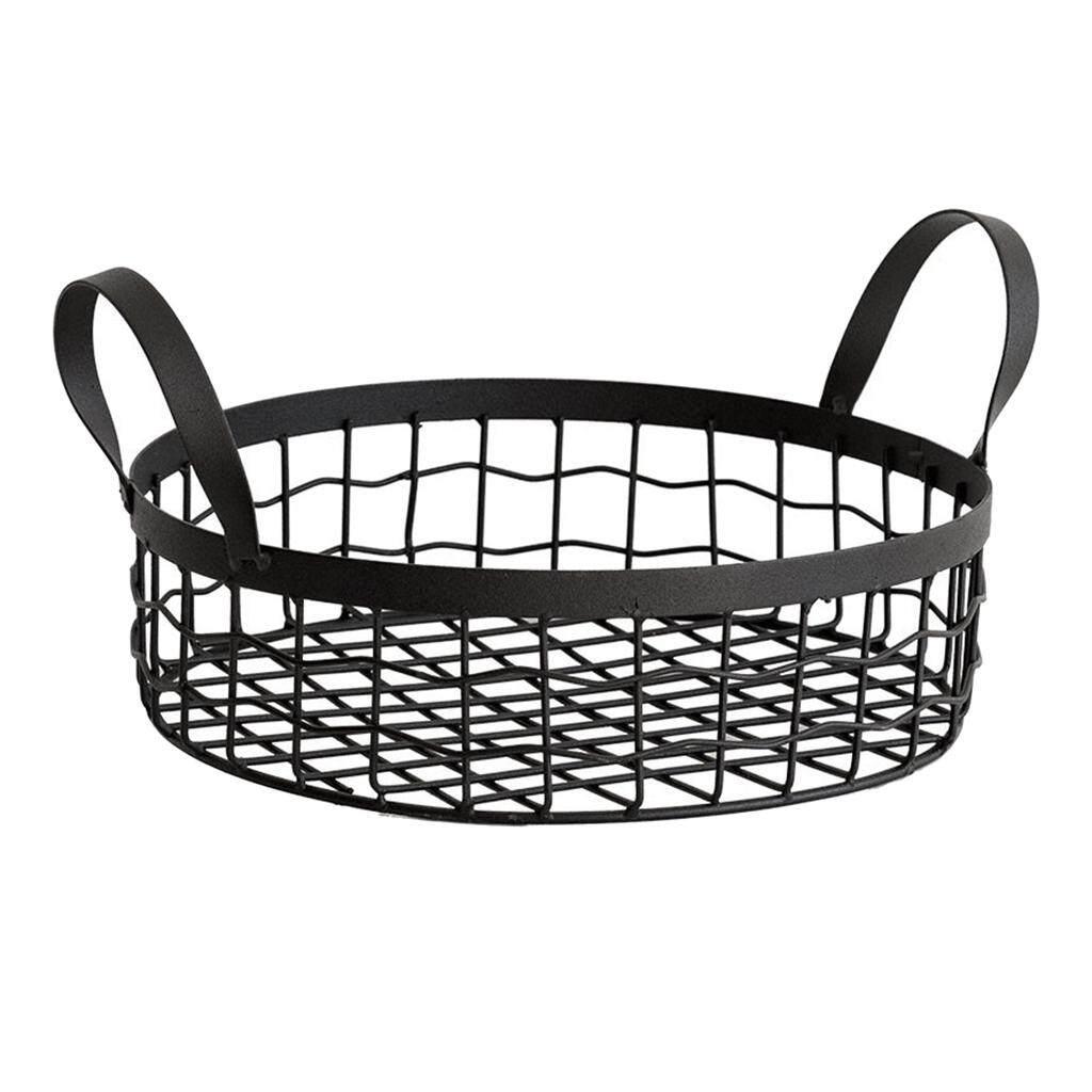 BolehDeals Retro Iron Baskets Organizers Metal Wire Storage Basket for Bread Fruit