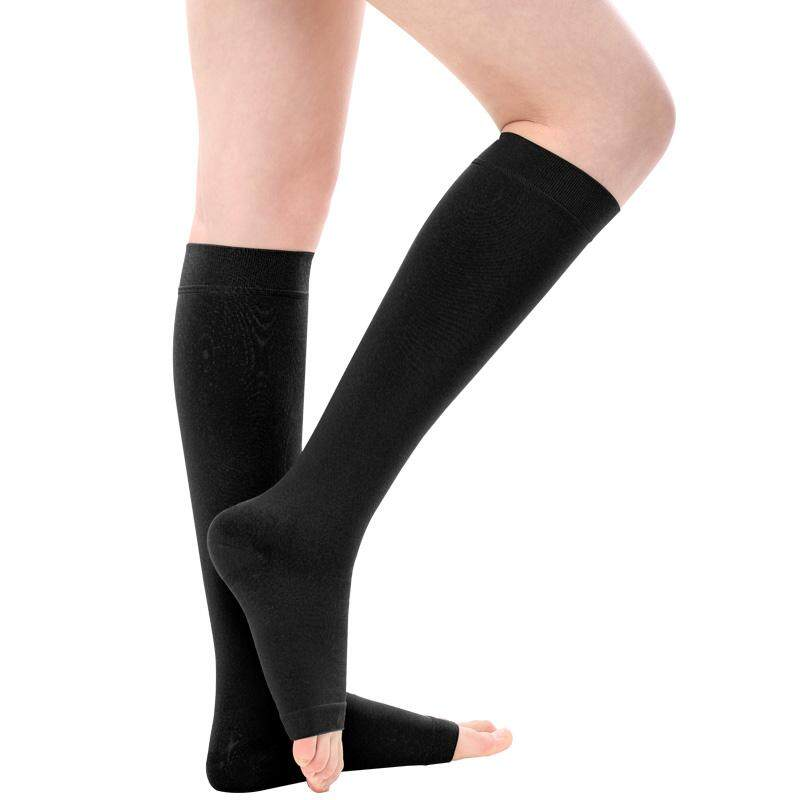 Analytical Fashion 1pair Zip Compression Socks Zipper Leg Support Knee Stockings Open Toe Thin Anti-fatigue Unisex Compression Socks Attractive Fashion Underwear & Sleepwears