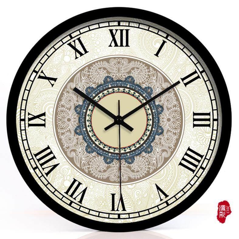 Bedroom Decoration Silent Quartz Clock Retro European Pakistani Wall Clock Hotel Clocks
