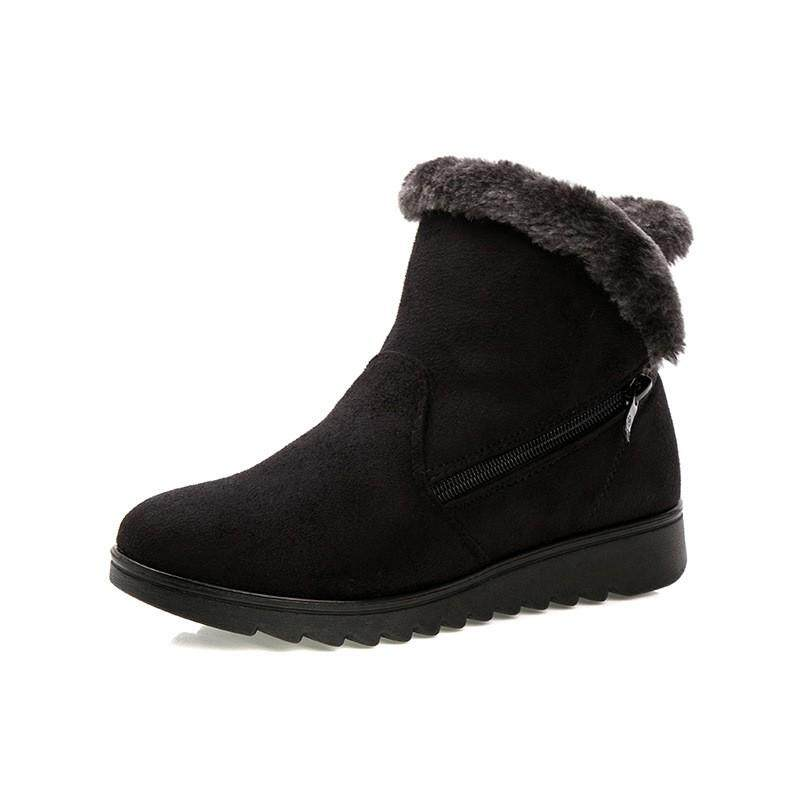 Mode Terkini Musim Dingin Wanita Anti Selip Sepatu Bot Sepatu Bot Setumit  2018 Wanita Kasual Datar e466d05aaf