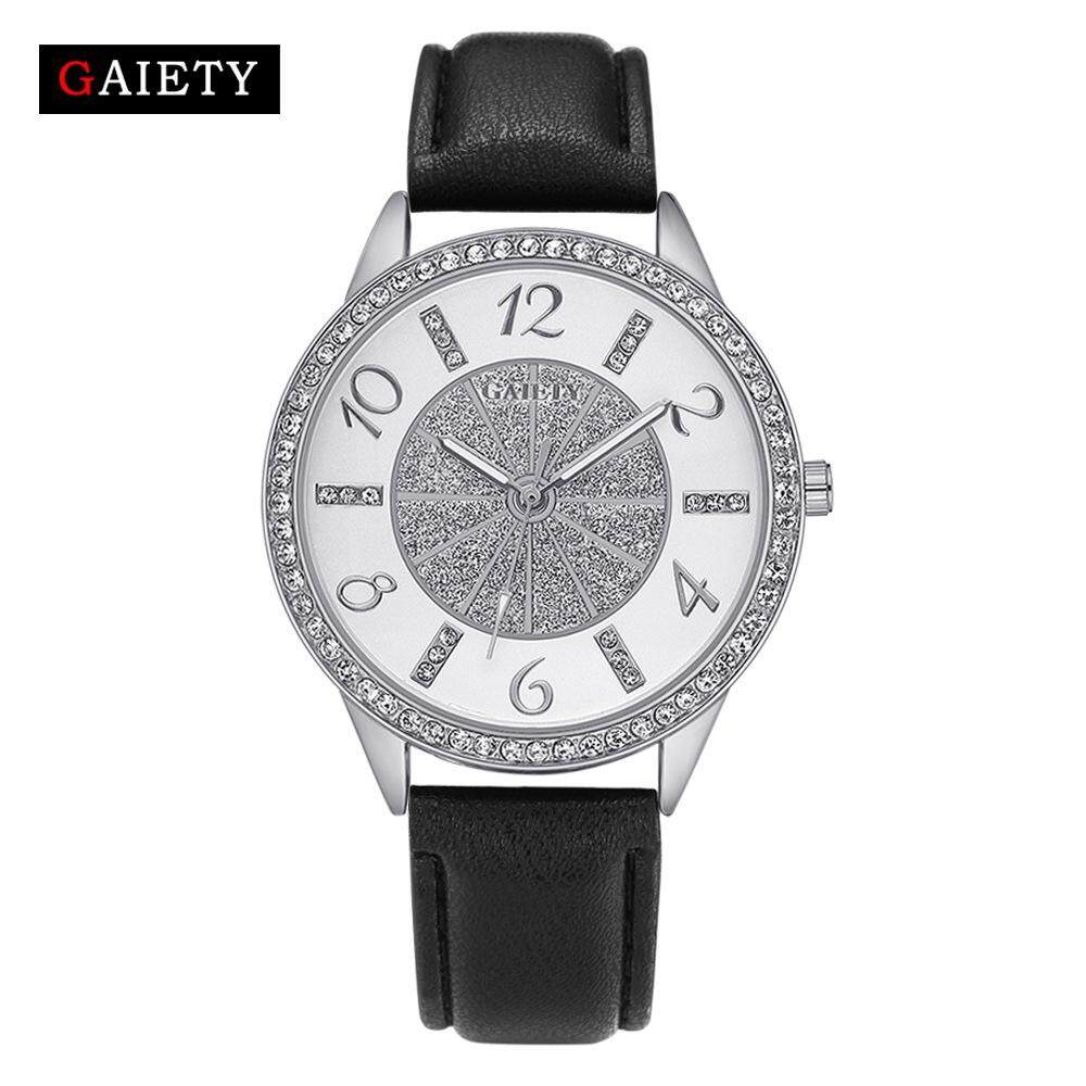 Perak Muka Arloji Kuarsa Wanita Watch Mode Merk Gaeity Watch Panggil Berlian (Biru Langit)