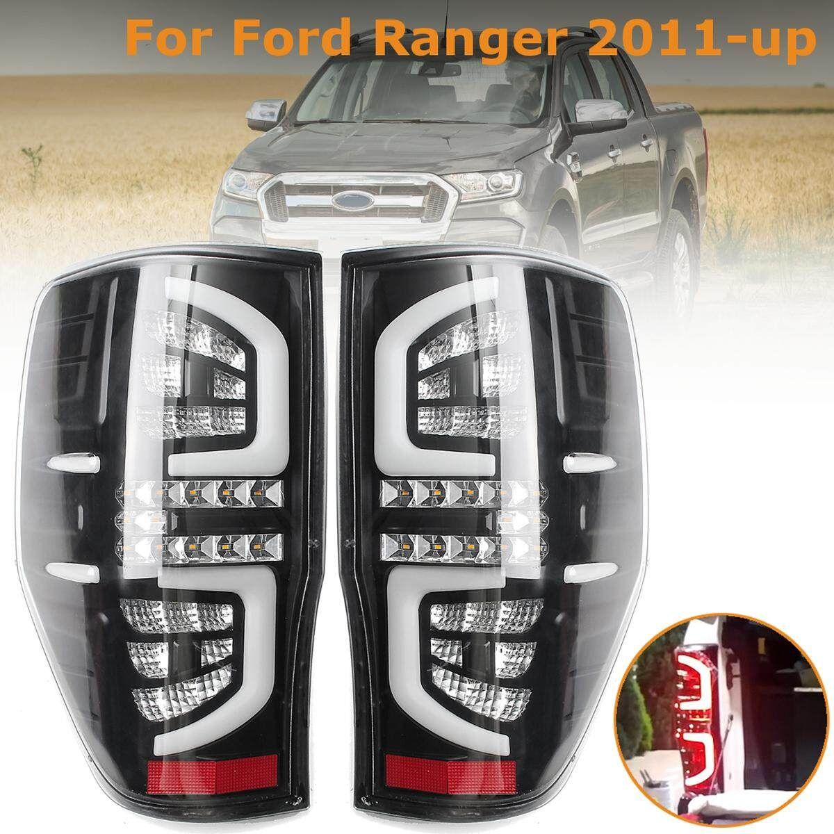 Jelas LED Lampu Bagian Belakang untuk Ford RANGER Px Mk1 Mk2 XL XLS XLT 2011 Bekas Warna-UP-Intl