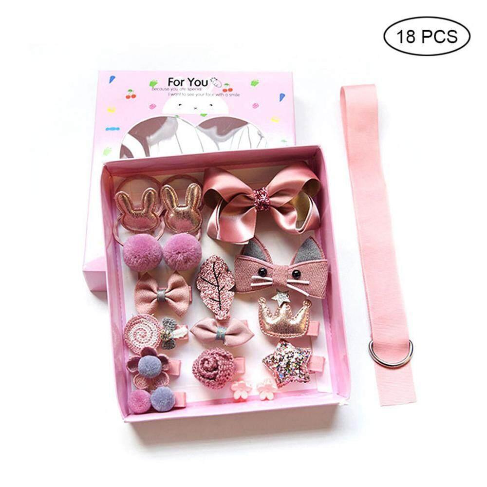 Kobwa 18 Pcs Girl Bowknot Flower Hair Clip Multi-Style Bow Hairpin Ribbon Xmas Gift By Kobwa Direct.