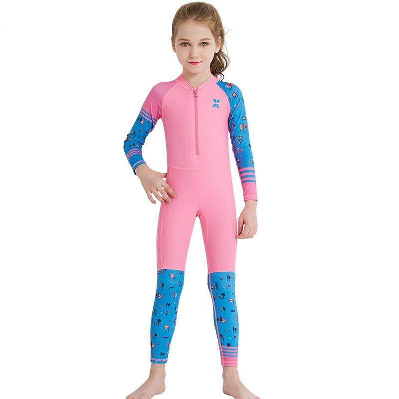 0cb40417a64dd Children One Piece Swimsuit UV Sun Protection Kids Diving Snorkeling Suits  Quick Dry Long Sleeve Wetsuit