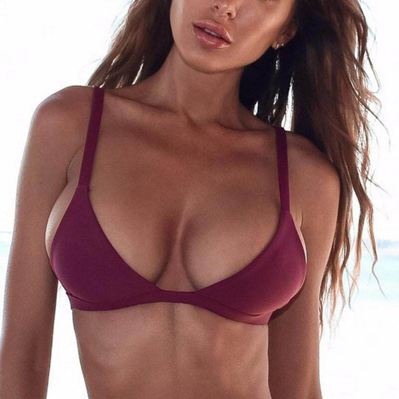 Homester Hot Sale Sexy Solid Color Bikini Swimsuit Top