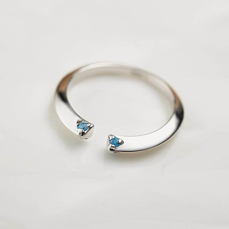 Indeks Cincin Wanita 925 Berlian Perak Asli Buka Fashion Pengantar Singkat Jenis Baru Cincin Safir Di Eropa dan Amerika Serikat Pengiriman Cepat dan berkualitas Baik-Intl