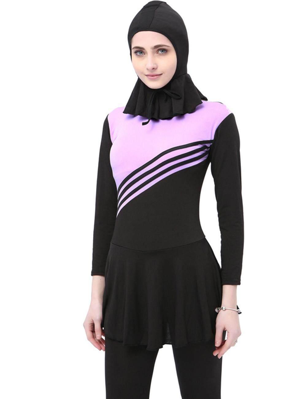 00bae5ce0e630 Wonderful Toy Women Stylish Slim Diving Suit Slim Breathable Swimsuit  Conservative Sunscreen Jumpsuit + Head Cover
