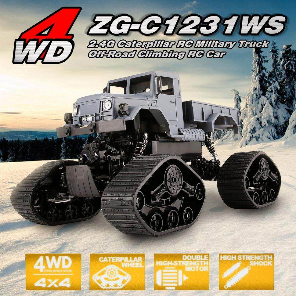 ZEGAN ZG-C1231WS 1/12 4WD 2.4G Caterpillar RC militer truk Off-